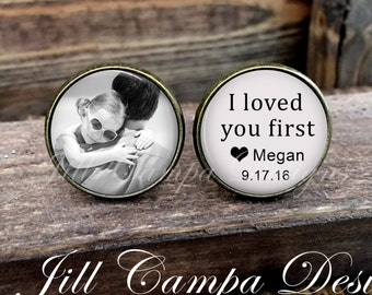 FATHER of the BRIDE - Father of the Bride Cufflinks - Custom Photo Cuff Links - Wedding Cufflinks - Cuff Links - Father of the bride gift