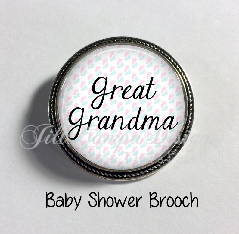 Great Grandma-to-be Baby- Gender Reveal Baby Shower Brooch Great Grandma Brooch Baby Shower BABY SHOWER BROOCH