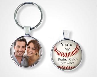 "Boyfriend Gift, gift for boyfriend, gift for husband - Baseball - ""You're my perfect catch"" - boyfriend, husband gift, anniversary gift"