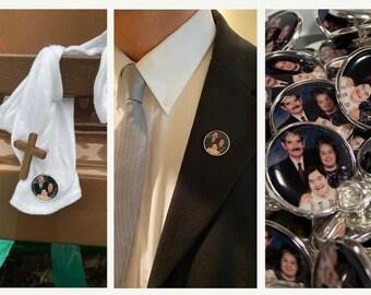 Quantity Discount Memorial Pins for funerals, memorials, weddings - special pricing, quantity discount, bulk order, large order