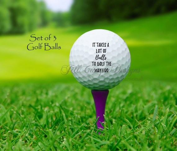 Golf Balls Funny Golf Balls Gift For Golfer Funny Golf Etsy