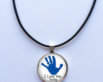 Children's Artwork necklace for Dad -Your Child's Artwork Necklace -  Your Child's Art - Children's art - kid's artwork made into a necklace