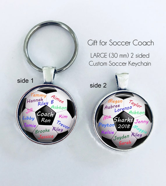 Soccer Coach Gift Personalized Soccer Ball Key Chain 2 Etsy
