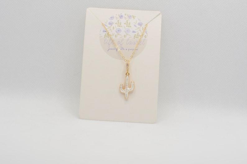 Opal Cactus Necklace