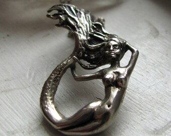 Mermaid Necklace, hand made by me, sterling silver