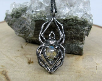Arachne Necklace, Labradorite - Ready to ship!