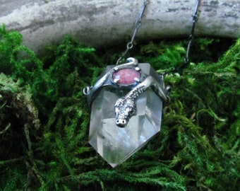 Snake with Lodolite and Pink Sapphire