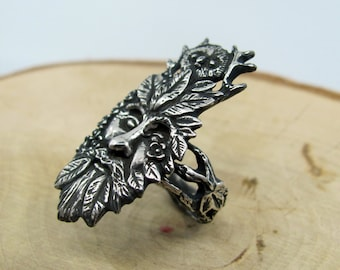 The Greenman Ring Sterling Silver