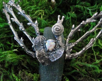 The Wood Nymph I - Hedenbergite Quartz and Opal