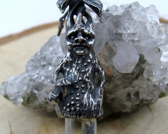 Mandrake Necklace with Citrine Crystal Point