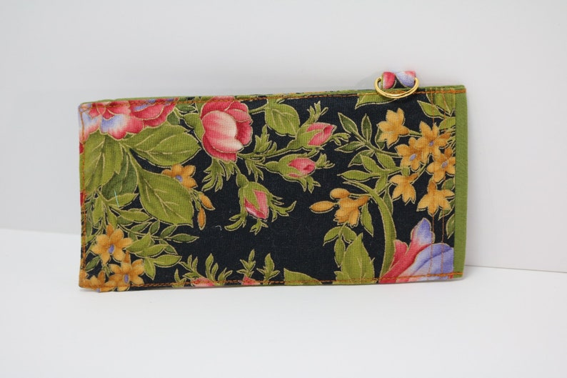 Pink and Purple Flowers Sunglass Pouch Sleve Gold