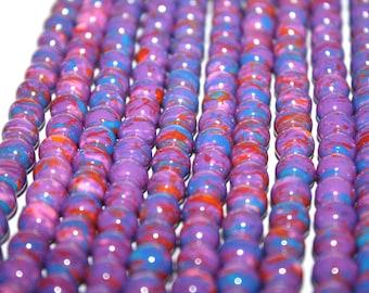 Purple Glass beads, Beading Supplies, Beads, Round Glass Beads, Beads, Jewelry Supplies, Purple Beads,  8mm 55ct - D094
