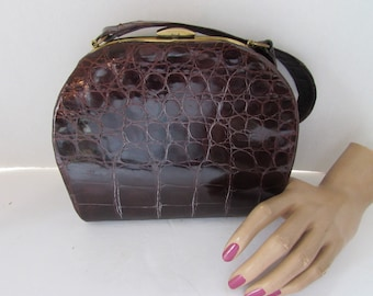 Vintage Brown Straw Purse Marshall Field and Company Made in Italy