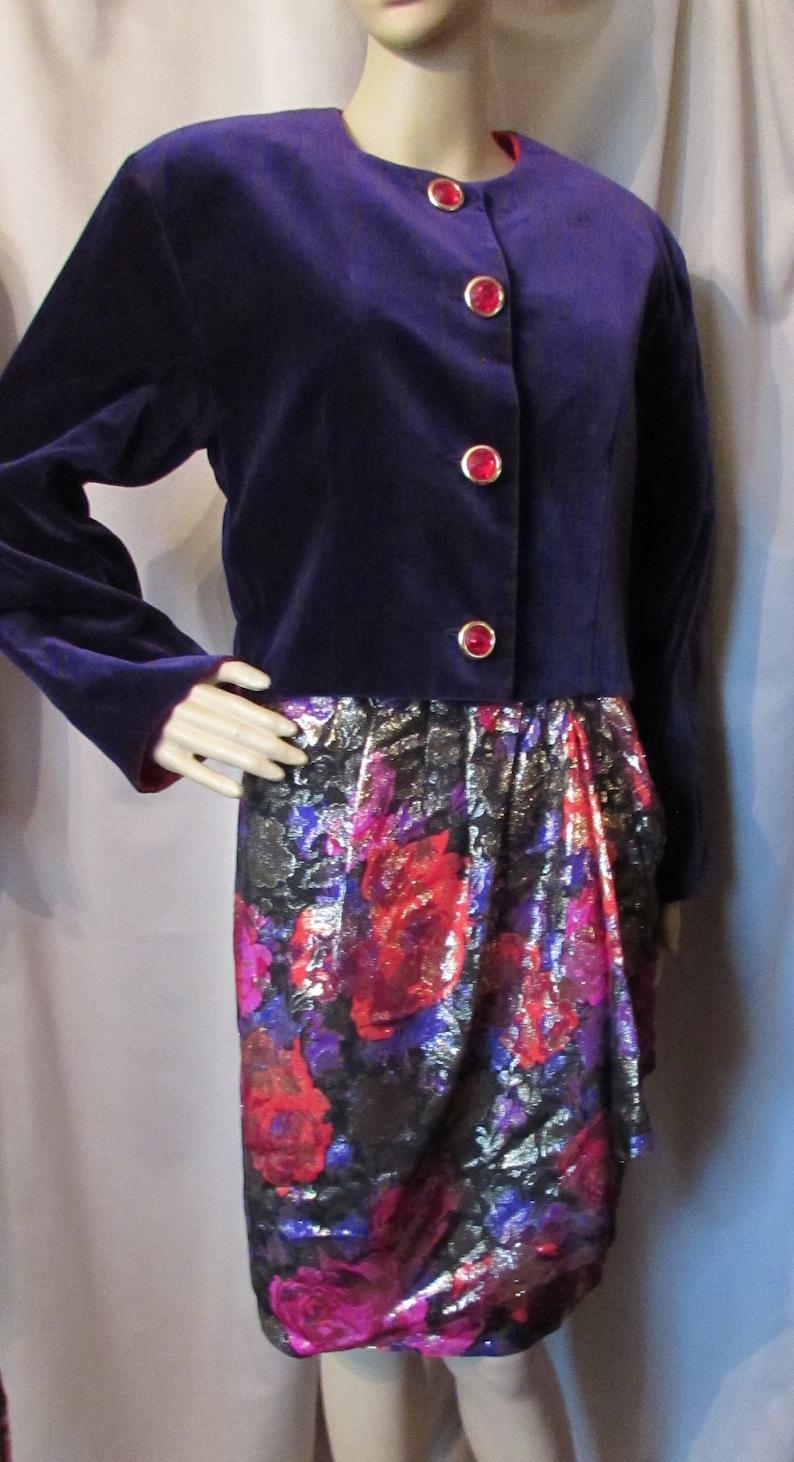 6d6dbfee0763 Vintage Guy Laroche Three Piece Set Purple Velvet Jacket Red | Etsy