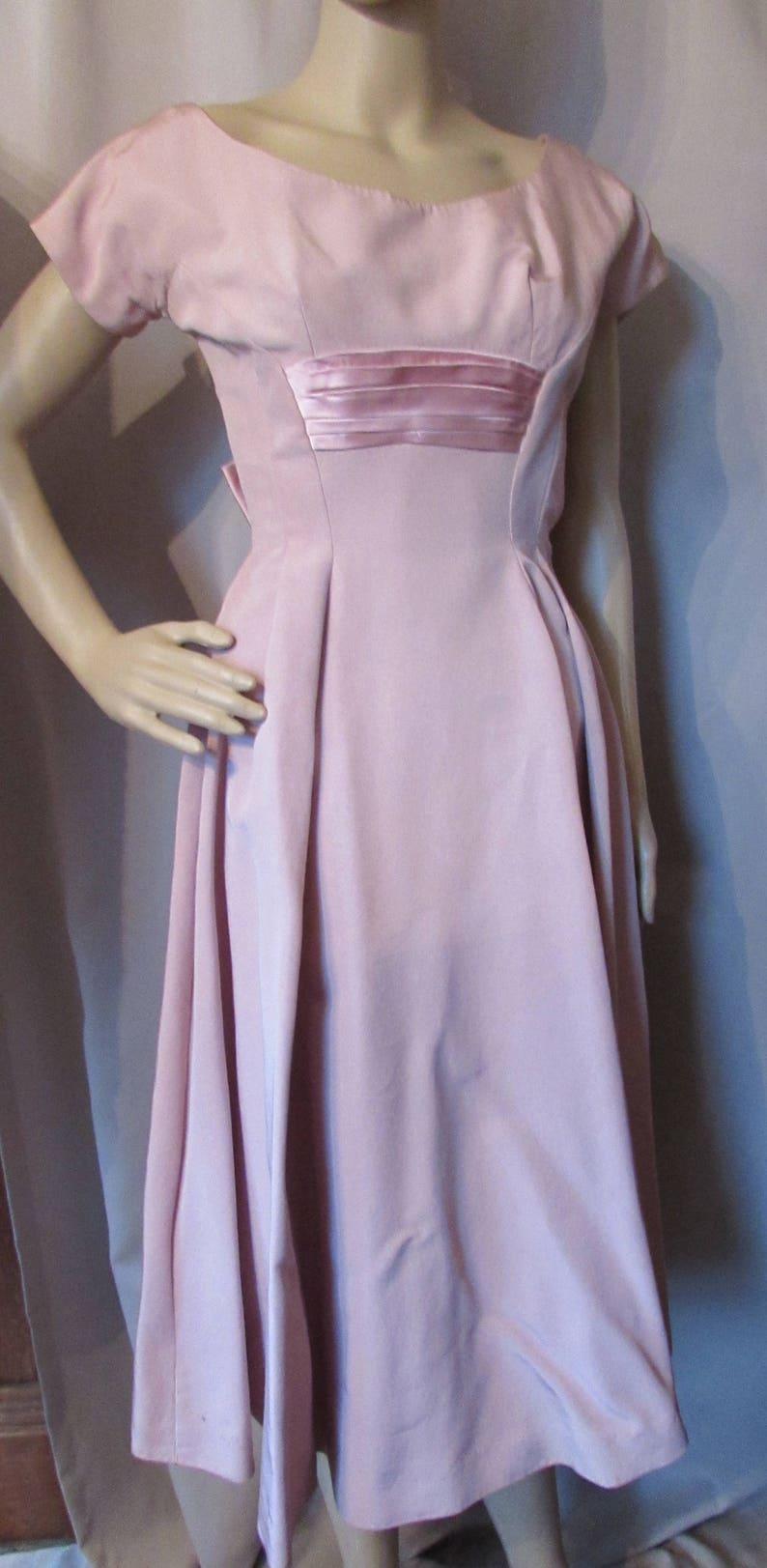 39f951d57f 1960 Cocktail Dress Vintage Evening Wear Dusty Pink Dress