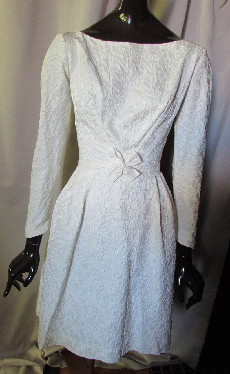 white vintage cocktail dress