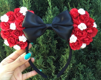 Minnie mouse floral ears, mickey ears, Mickey mouse ears, Mickey mouse, Minnie mouse, Disney ears