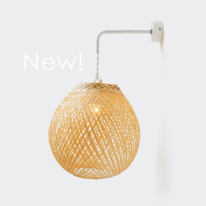 new products 8ecbd 79d75 Bamboo Pendant Lamp, Bamboo Wall Sconce, Bamboo Pendant Wall Sconce, Woven  Bamboo Lamp, Bamboo Lamps