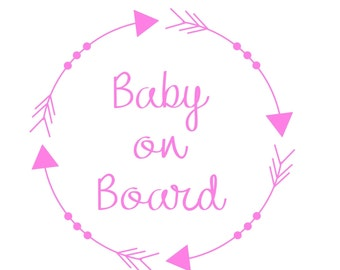 Baby on Board Sign / Baby on Board Car Decal / Baby on Board Decal / Baby on Board Sticker / Baby Shower Gift / Car Sticker