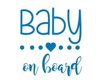 Baby on Board Car Decal / Baby on Board Sign / Baby on Board Car Sign / Baby on Board Decal / Baby on Board Sticker / Baby Shower Gif