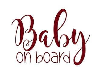 Baby on Board Sign / Baby on Board Car Decal / Baby on Board Decal / Baby on Board Sticker / Baby Shower Gift / Baby on Board Car Sticker