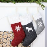 Personalised Christmas Stockings | Knitted Christmas Stocking | Personalized Stocking | Monogram Stocking {Christmas Stocking: Speckled}