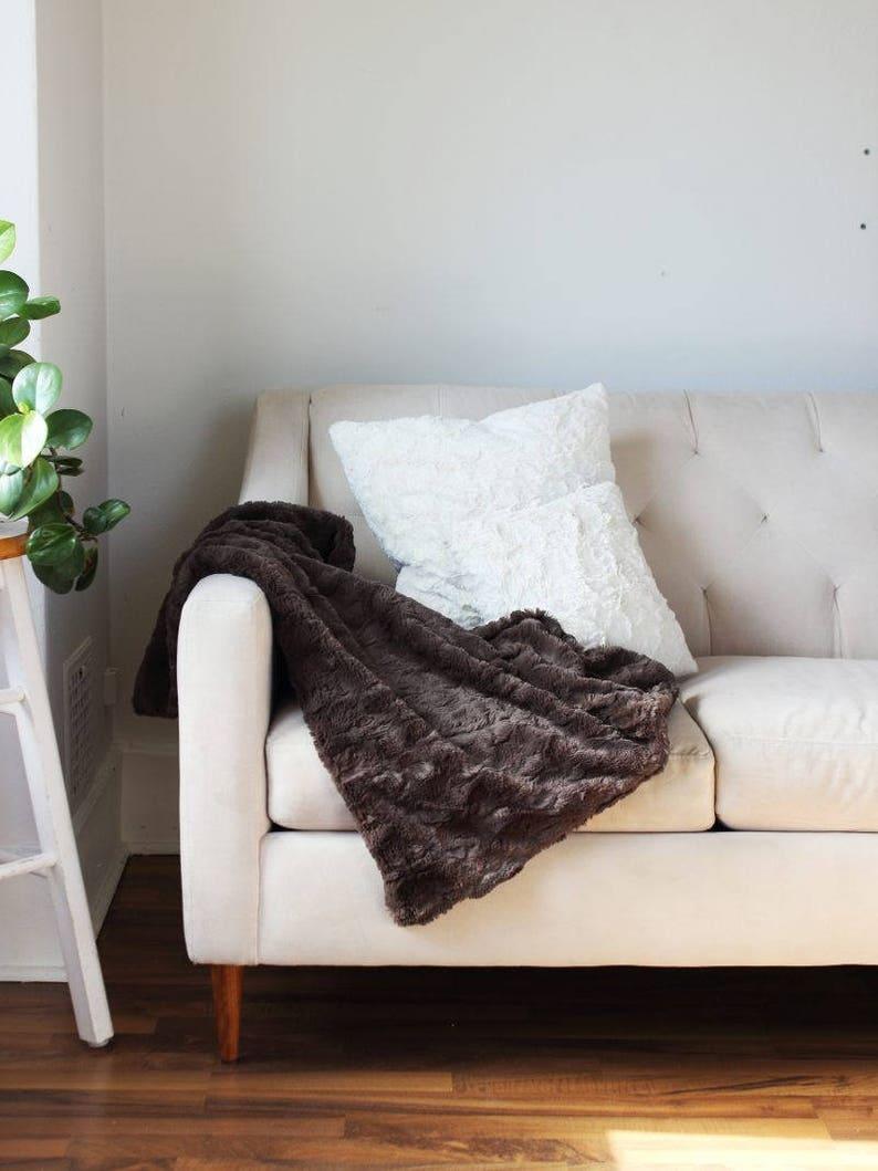 Faux Fur Throw Blanket Soft Throw {Faux Fur Throw} Charcoal Blanket Sofa Throw Faux Fur Throw Bed Throw