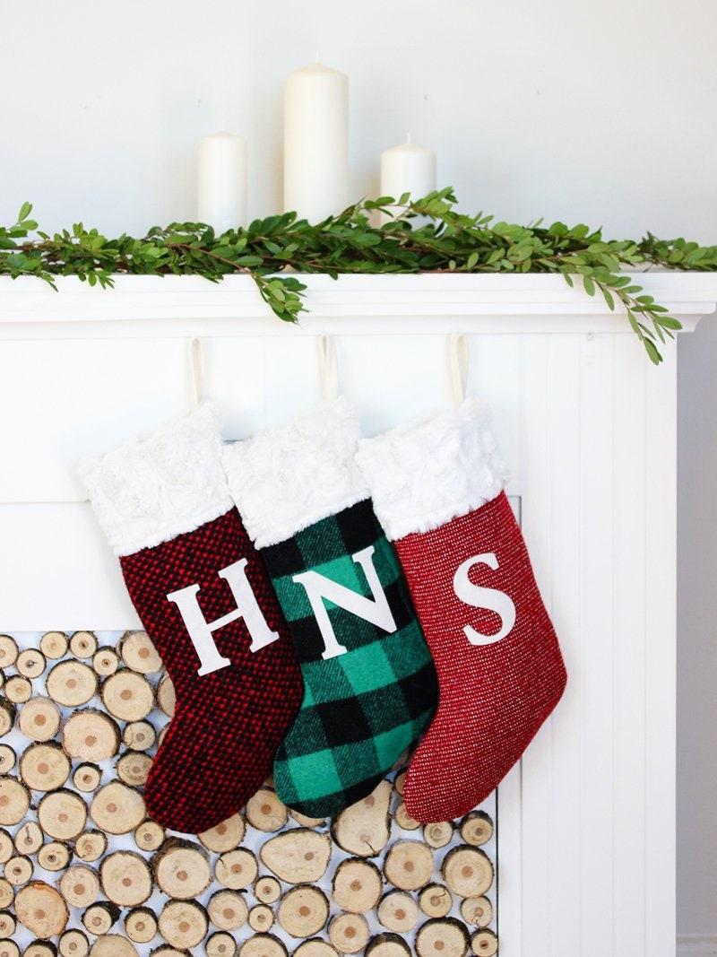 Personalized Stocking Christmas Stockings Initial Stocking | Etsy