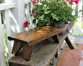 Homemade wooden step stool, sturdy kitchen stool, plant stand, timeout bench, book stand, farmhouse décor, cottage décor, primitive, rustic