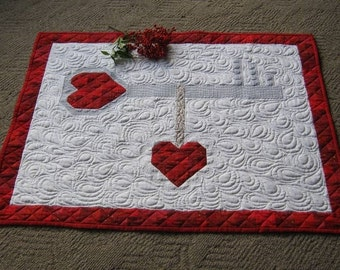 Key to my Scrappy Heart is a Valentine quilt pattern perfect for bringing love into your home! Easy gift to make too!