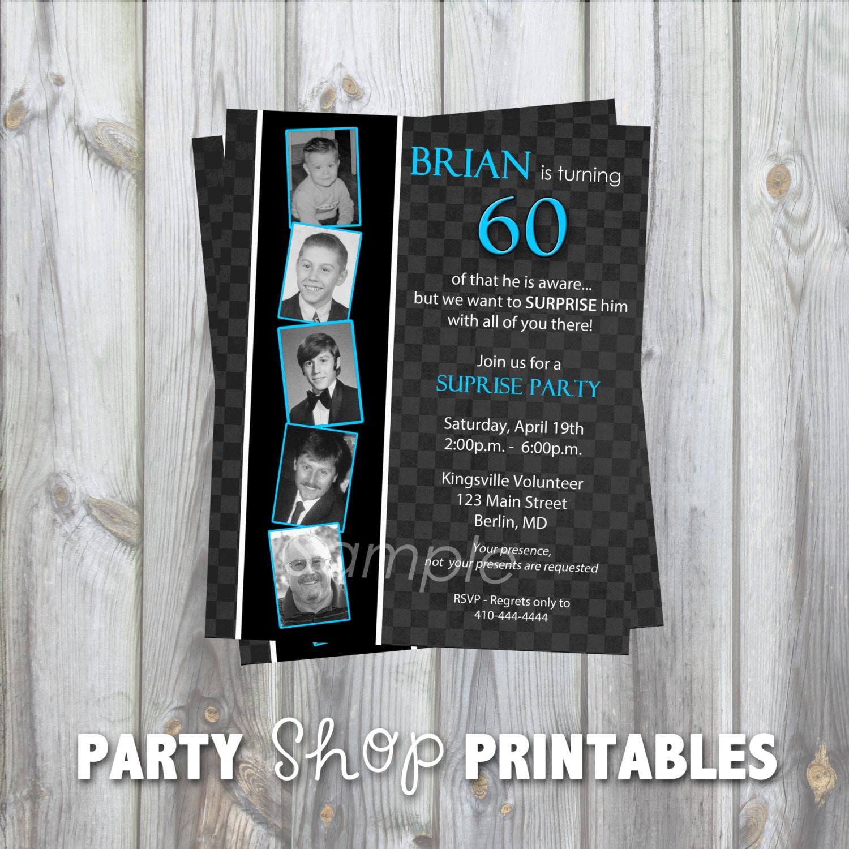 Custom Milestone Birthday Invitation... 30th 40th 50th