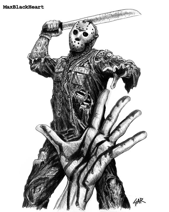 Items similar to Jason Voorhees 8x10 Friday the 13th part ...