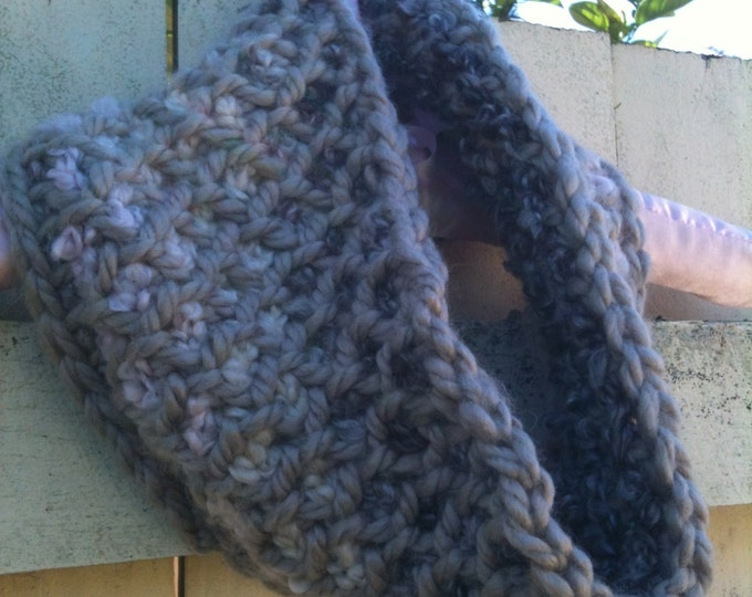 Two Colour Tunisian Neckwarmer