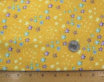 Stay Wild Moon Child Small Stars Yellow Fabric by Henry Glass Fabrics One Yard