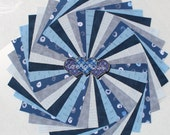 Charm pack 5 inch Squares,Sade 39 s of Blue 100 Cotton Quilting 50
