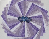 Charm pack 5 inch Squares 100 Cotton Quilting 50 Lavender mix