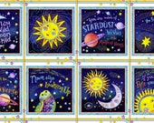 Stay Wild Moon Child from Henry Glass Fabrics 100 Quilt shop Quality Fabric Panel 8 squares at 10 Inches ea.