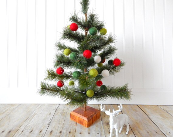 christmas garland christmas felt ball garland pom pom garland christmas decor christmas tree garland mantel decor holiday decor vintage - Garland Christmas Decor