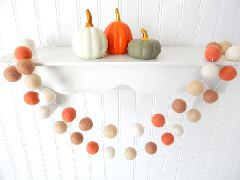 Coral Comfort Autumn Garland Fall Garland Fall Decoration image 0