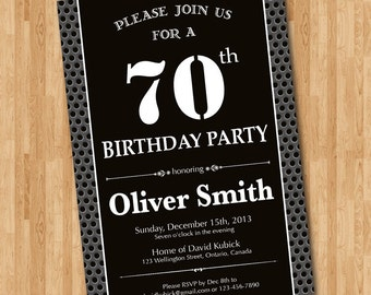 70th Birthday Bash Etsy