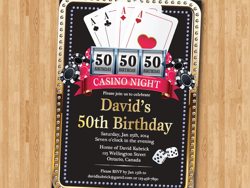 This is an image of Exhilarating Free Printable Casino Party Invitations