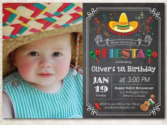 chalkboard fiesta birthday invitation cinco de mayo party etsy
