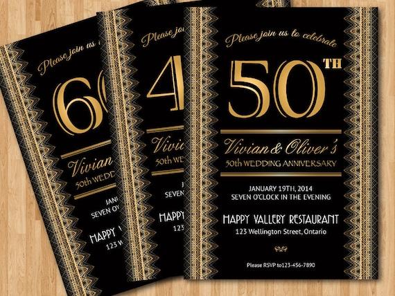 Einladung Zur Hochzeit Jubilaum 20 30 40 50 60 Etsy