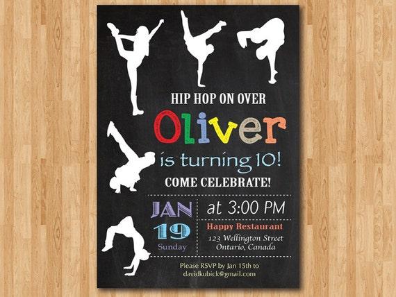 Hip hop birthday invitation chalkboard birthday party etsy image 0 filmwisefo