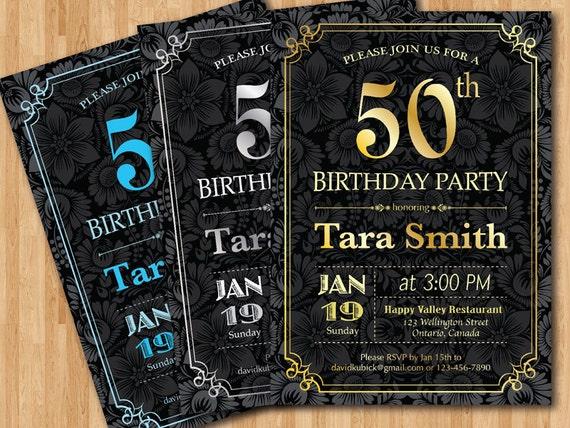 Invito Festa Di Compleanno Di Sorpresa 30 40 50 60 70 Etsy