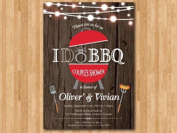 Backyard Bbq Wedding Invitations: I Do BBQ Wedding Invitation. Rustic Wedding Shower Invite