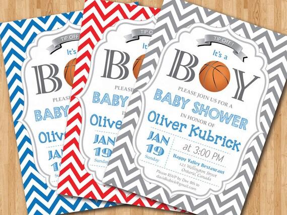 Basketball baby shower invitation baby boy chevron invites etsy image 0 filmwisefo
