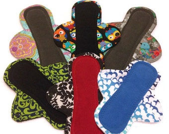 Custom Cloth Pads, Stay-Dry Pads, Reusable Menstrual Pad - Pantyliner, Moderate, Heavy, Overnight - You choose fabric! mama cloth pads