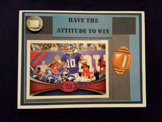 New York Giants Birthday Card With Eli Manning Or Odell Etsy