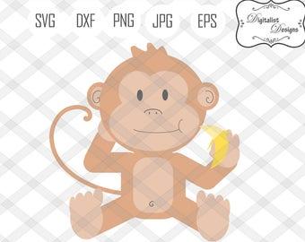 monkey clipart etsy rh etsy com baby monkey clipart black and white baby monkey clip art free